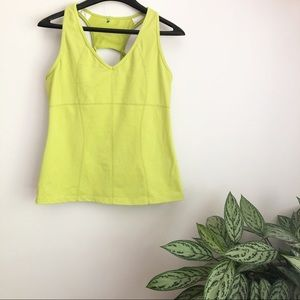 Athleta lime green equator racer back workout tank